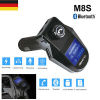 KFZ Freisprechanlage FM Transmitter Auto Bluetooth Radio MP3 Player 2USB Adapter