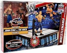 Mattel WWE Wrestling PPV Exclusive Wrestlemania Superstar Ring The Rock Cena