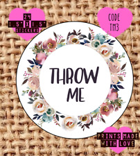 Throw me , wedding confetti stickers , labels , party , floral TM3