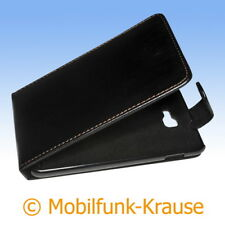 Flip Case Etui Handytasche Tasche Hülle f. Samsung GT-N7000 / N7000 (Schwarz)