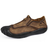 Fashion Men's Leather Casual Shoes Breathable Antiskid Loafers Driving Moccasins