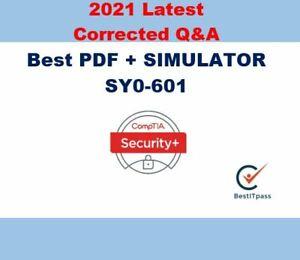 CompTIA Security+ SY0-601 PDF + simulation