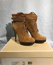 NIB Michael Kors Leather Vanessa Bootie Boots Shoes color Luggage 7,5