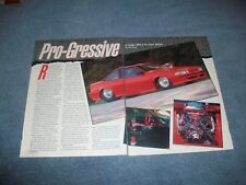 "1988 Chevy Cavalier Z/24 Vintage Pro Street Article ""Pro-Gressive"""