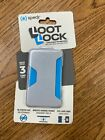 Loot Lock Stick-on Wallet for Smartphones, Gray Blue