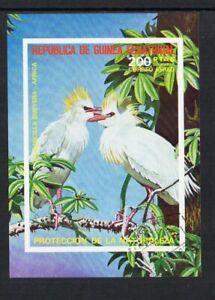 Equatorial Guinea - 1976, African Birds, CTO Imperf Mini-Sheet