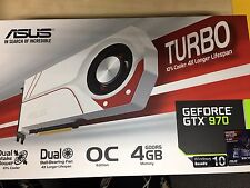 Asus Geforce GTX 970 TURBO OC Edition 4GB DDR5 Graphics Card Very Light Use
