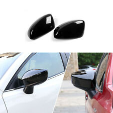 2pc black  Rearview Mirror Cover Trim Fit For MAZDA 3 AXELA m3 2014-2016