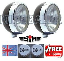 "2x 9"" Mk1 Mk2 FORD ESCORT SPOT LAMPS LIGHTS, CIBIE SUPER OSCAR COVERS RS RALLY"