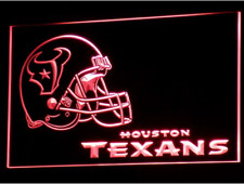 New Custom Houston Texans LED Neon Light Signs Bar Man Cave 7 colors to choose