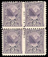 NUOVA Zelanda 1900 QV 2d noiosa Violet PERF 11 blocco di quattro MLH/Gomma integra, non linguellato. SG 276.