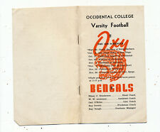 C8388 OCCIDENTAL  VARSITY FOOTBALL SCHEDULE  BOOKLET