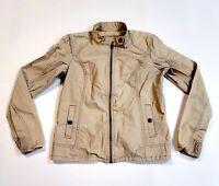 Eddie Bauer Women's Safari Style Jacket Beige 100% Cotton W/ Pockets Size Small