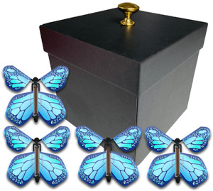 Black Exploding Butterfly Box With Monarch Flying Butterflies