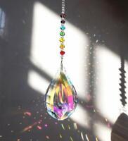H&D Crystal Suncatcher AB Color Prism Hanging Ornament Shining Pendant Gift Deco