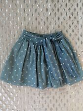 Oshkosh polka dot denim skort skirt sz 6
