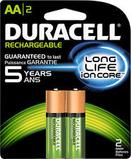 8 Duracell AA Precharged Rechargeable NiMH 2000 mAh 1.2v Batteries DX1500 Japan
