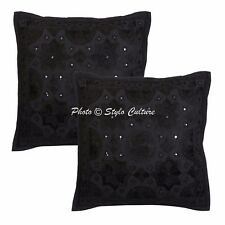 Mirror Embroidered Cushion Cover Throw Indian Decorative Sofa Pillow Case Cover