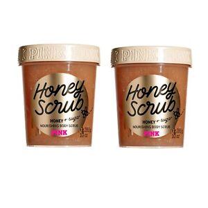 Victoria's Secret PINK Honey With Sugar Nourishing Body Scrub~10 oz.(Lot of 2)
