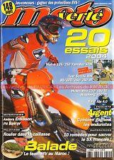MOTO VERTE 353 KTM 125 250 SX EXC YAMAHA YZ SUZUKI 85 RM HUSQVARNA 450 TE 2003