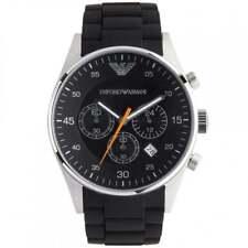 New Emporio Armani AR5858 Black Men's Sportivo Chronograph Watch