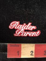 White On Red RAIDER PARENT Patch - Probably A Raiders Sports Team 95H4