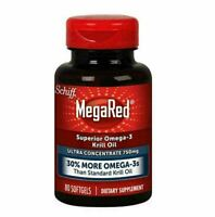 MegaRed Ultra Concentration 80 softgels - Krill Oil 3 Pack 240 Total