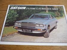 DATSUN LAUREL SIX MK II SALES BROCHURE 1979 jm