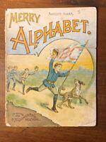 HTF Children's 1890 McLoughlinBros Merry Alphabet Color Illustrated Letters ABCs
