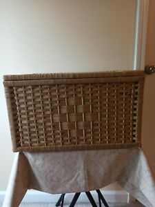 Large Square Storage Basket Handmade Woven Straw Box Rattan With Lids