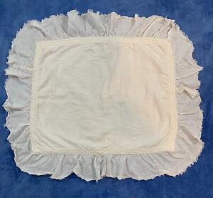 RESTORATION HARDWARE RH TEEN Tattered Ruffle Linen Blend Standard Pillow Sham