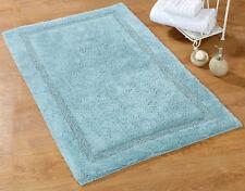 Bath Rug Cotton, 36x24 In, Anti-Skid, Arctic Blue, Washable, Regency