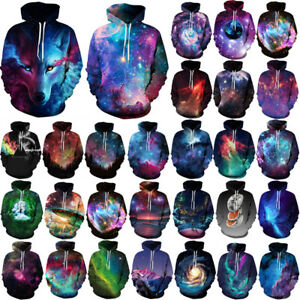Galaxy 3D Graphic Print Men Women Hoodies Sweatshirt Coat Jacket Jumper Pullover