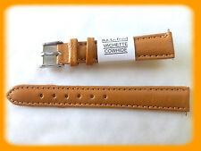 BRACELET MONTRE CUIR VÉRITABLE VACHETTE DOUBLE VACHETTE/* JAUNE/* 14 mm REF.B178