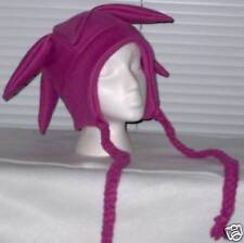 NEW fleece jester snowboarding hat dark pink w/ties