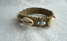 Seagrass Cowrie Shell Bead Bangle Bracelet Wristband Surf Beach BoHo Hippy