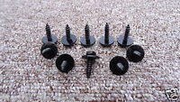 4.8x19 mm BMW BLACK SELF TAPPING TAPPER SCREW & WASHER *8mm HEX HEAD*