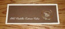 Original 1983 Cadillac Seville Eldorado De Ville Exterior Colors Brochure