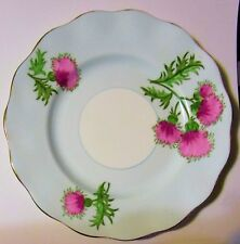 "Vintage Foley ""Glengarry Thistle"" 8"" Scalloped Edge Bone China UK Plate"
