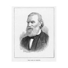 Francois Vincent Raspail French Socialist Politician - Antique Print 1878