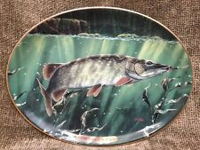 Northern Pike Plate By Edward L. Totten Fresh Water Game Fish Bradford Exchange