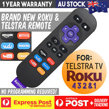 ROKU 4 3 2 1 TELSTRA TV TV2 REPLACEMENT REMOTE CONTROL NETFLIX AMAZON BUTTON NEW