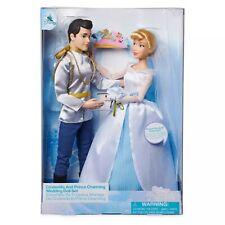 Disney Store Cinderella & Prince Charming Classic Wedding Fashion Doll Set New