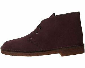 Clarks Desert Boot Burgundy Men's Lace Up Chukka Boots 62442