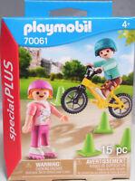 Playmobil Special Plus 70061 Kinder mit Skates und BMX Fahrrad Pylonen NEU