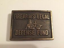 Vintage Firearms Legal Defense Fund Brass Belt Buckle