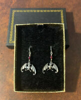 NEW Edward Gorey Bat Sterling Silver Earrings - New in Package - gift box