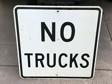 Original Retired NO TRUCKS Sign from GAYVILLE SD Street Road Highway Vintage OLD