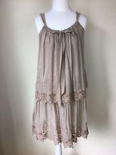 Womans Dress Size 12 By PennyBlack Tier Beige Lace Details Dress