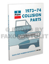 1973 1974 Plymouth Body Parts Book Duster Valiant Scamp Barracuda Cuda 74 Fury